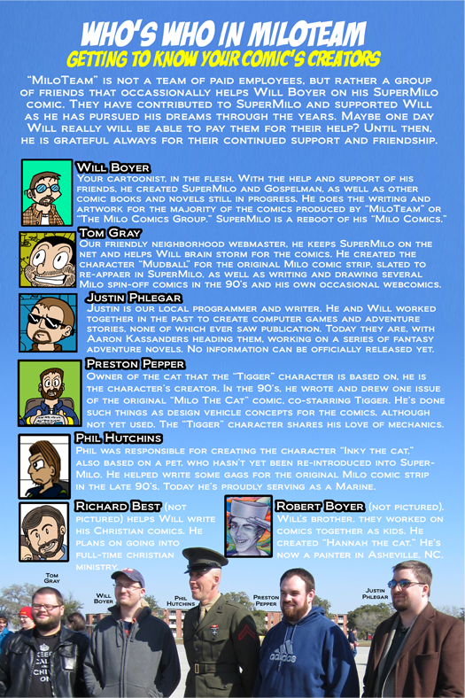 MiloTeam Staff Page