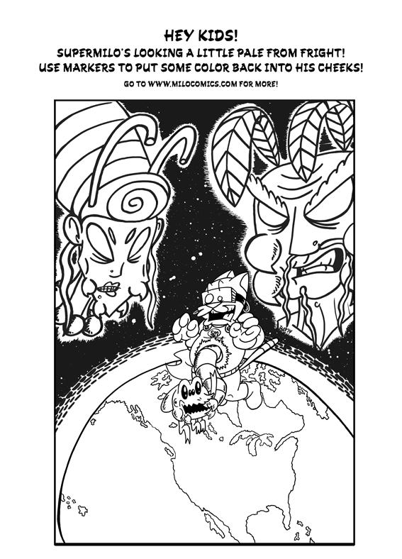 SuperMilo Coloring Page 02