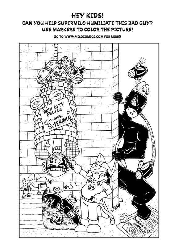 SuperMilo Coloring Page 01