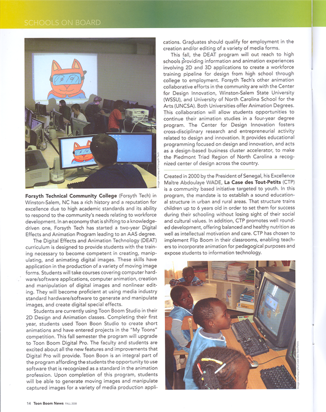 ToonBoom Magazine Appearance